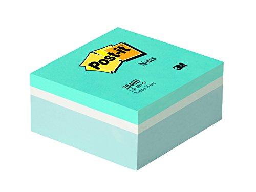 Post-it 2040B Haftnotiz Würfel, 76 x 76 mm, 400 Blatt, ultrablau, weiß, pastellblau