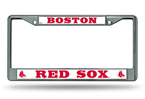 (Rico Industries MLB Boston RED SOX Chrome License Plate Frame)