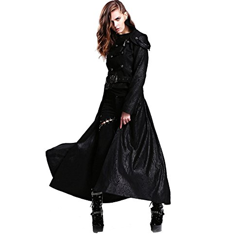 Steelmaster Gothic Detachable Long Coat Steampunk Two Way...