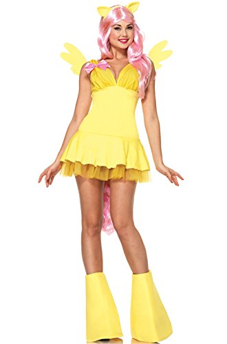 Leg Avenue Women's My Little Pony Friendship Is Magic 6 Piece Fluttershy Costume, Yellow, Small