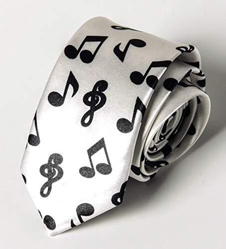 Elegant Tie Corbata de cuello para hombre, con diseño de notas ...
