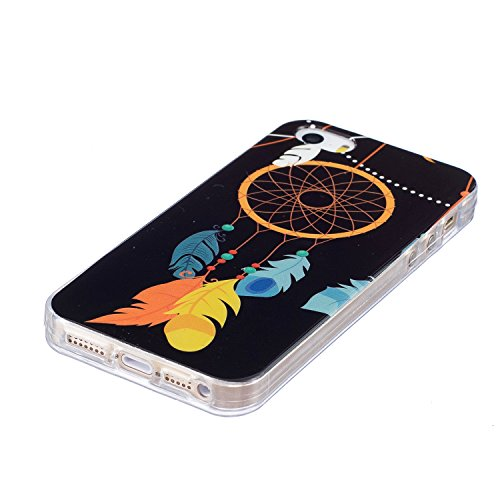 Custodia iPhone 5 5S SE , LH Campanula Fluorescenza Silicone Morbido TPU Case Cover Custodie per Apple iPhone 5 5S SE