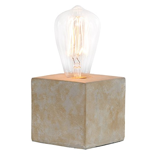 Davy Concrete Base Filament Bulb Modern Accent Lamp Antique Grey Edison Bulb Included - Hubbardton Bathroom Sconce