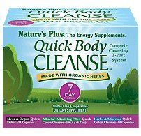 Natures Plus Quick Body Cleanse Kit - 7 Day Morning & Evening Program, 28 Vegetarian Capsules & Formula - Colon Cleanse for Weight Loss, Liver & Organ Detox - Organic, Gluten Free - 28 Servings