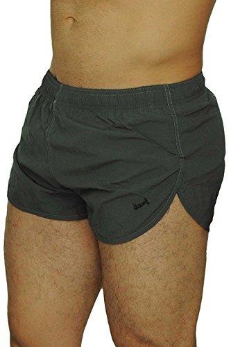 UZZI Men's Basic Running Shorts Swimwear Trunks 1830 Grey/Charcoal S by UZZI
