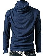 Heren Thermische Tops Heren Coltrui T-shirts met Lange Mouwen Basic Lange Mouw Ademend Hemd Trui