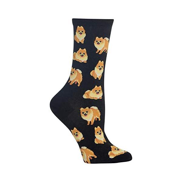 Hot Sox Pomeranian Crew Socks, 1 Pair, Women's 4-10 Shoe 1