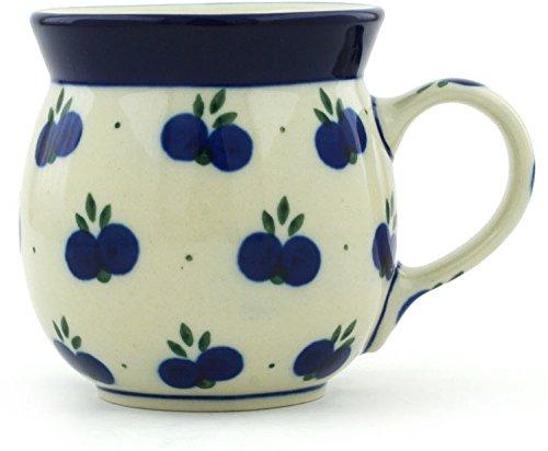 Polish Pottery Coffee Mug Bubble 8 oz Wild Blueberry