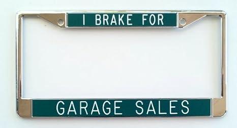 I Freno Per Garage Sales Targa Telaio Sfondo Verde Amazonit