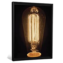 "J.P. London FLCNV2325 Feature 2"" Thick Heavyweight Framed Stretched Canvas Wall Art Edison Bulb 2 Restoration Hardware Vintage at 50"" Wide by 38"" High"