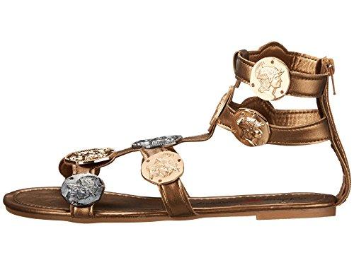 Penny Loves Kenny Ankle Strap Heels (Penny Loves Kenny Women's Trojan Dress Sandal, Bronze Matte, 8.5 M US)