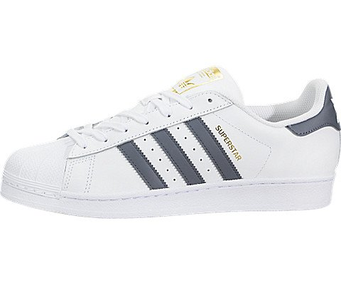 adidas Superstar Foundation Mens in White/Onix/Metallic Gold, 8.5 (Best Basketball Shoes On The Market)