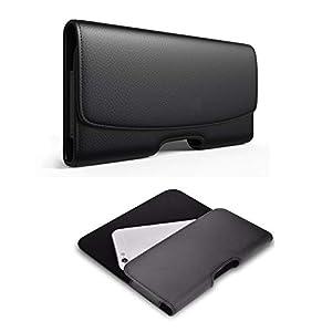 Realtech Leather Anti Theft Cellphone Belt Loop Holster Magnetic Cover for vivo X60 Pro 5G / vivo iQOO 7 / vivo X60 5G…
