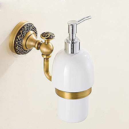 Homelava Antique Brass Soap Dispenser Wall Mounting Soap Liquid