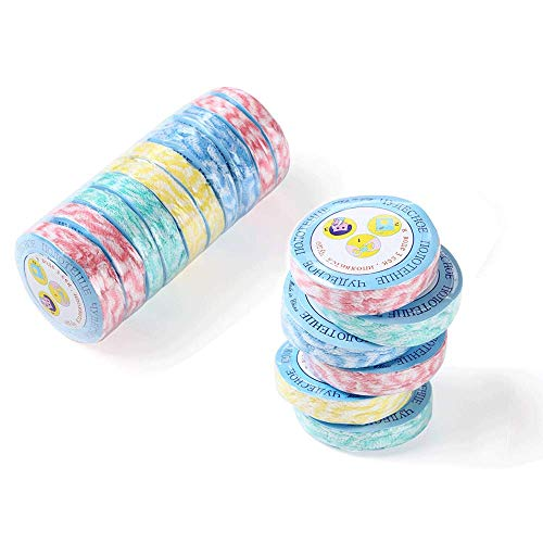 Sungmor 20 PCs Portable Colorful Compressed Cotton Towel l Mini Magic Non-Woven Coin Tissue Quick Drying Disposable Towel for Travel Sports Beauty Salon Camping Hiking