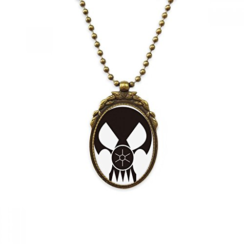 DIYthinker Pollution Biochemical Weapon Gas Mask Antique Brass Necklace Vintage Pendant Jewelry Deluxe Gift