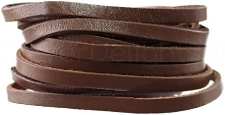 1//4 Wide 5oz Genuine Leather Dark Brown CleverDelights Premium Cowhide Leather Strap Jewelry Craft Supply 15 Feet Long