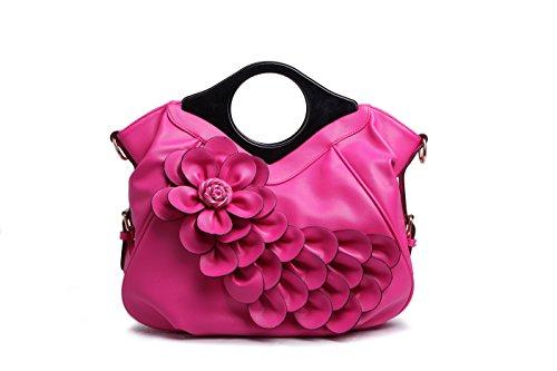 PU Purses Ruiatoo Evening Women Flower Handbag Rose Retro Peacock Red Leather Clutch zzRrwEqg