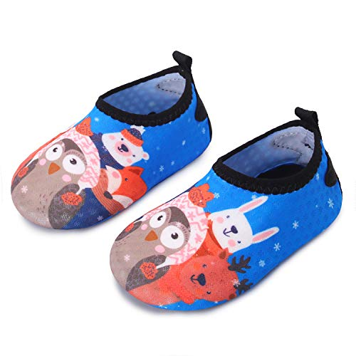 JIASUQI Lightweight Sports Water Shoes Casual Beach Sandals for Baby Boys Girls Blue Owl 0-6 Months