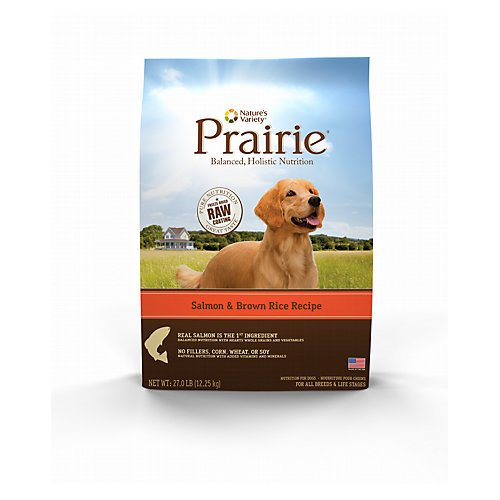 Natures Variety Prairie Salmon Dry Dog Food 27lb