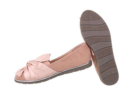 Damen Schuhe Halbschuhe Slipper Altrosa