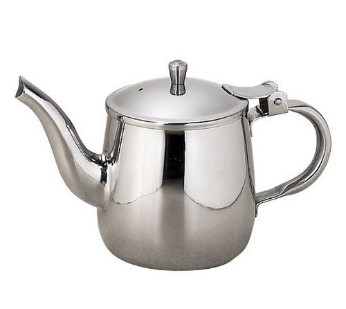 TableCraft Products 10 Ounce Gooseneck Teapot Stainless Steel