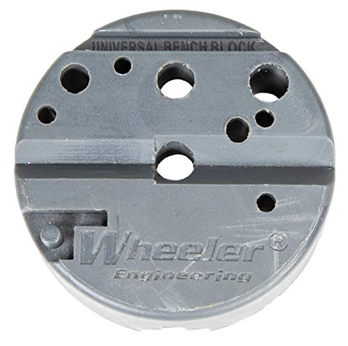 Wheeler Universal Bench Block with Non-Marring Construction and Multiple Uses for Pistols, Gunsmithing and Maintenance