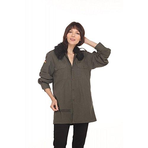 Camicia Trashdeluxe Con Militare Verde Fur Black RdqdOn