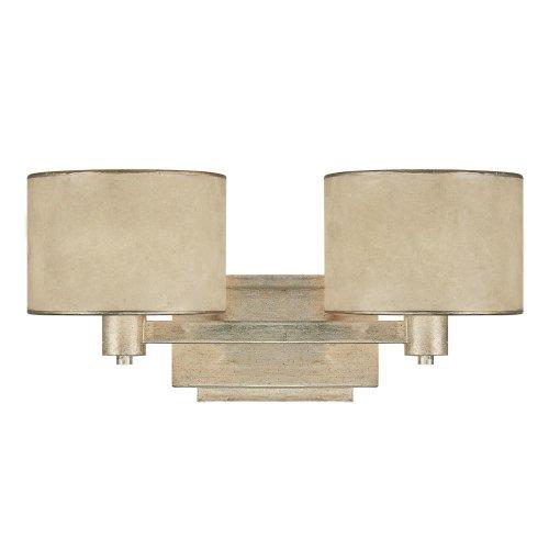 - Capital Lighting 1007WG-410 Lenox 2-Light Vanity Fixture, Winter Gold