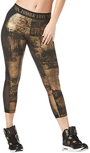 Mujer Zumba Fitness/® Womens Shaping Capri Workout Leggings with Fashion Print Legging