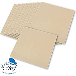 "Food Dehydrator Teflon Baking Sheets - Set of 9 Premium 14"" X 14"" Non Stick Teflon Dehydrators Cookie Dryer Sheets For Excalibur 2500 3500 2900 or 3900 Dehidrator Sheet By Chuzy Chef"
