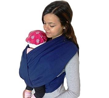 Porte bébé ECHARPE DE PORTAGE neuve SANS NOEUDS (tubes)  quot Marine quot   idée 22fdb431d6c