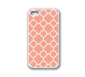 iPhone 4 Case White Silicone Case Protective iPhone 4/4s Case Quartefoil Coral