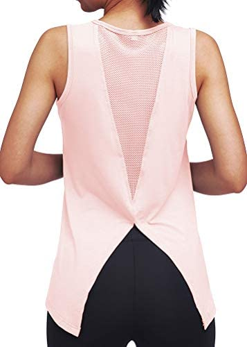 Mippo Womens Cute Workout Clothes Mesh Yoga Tops Exercise Gym Shirts Running Tank Tops 4