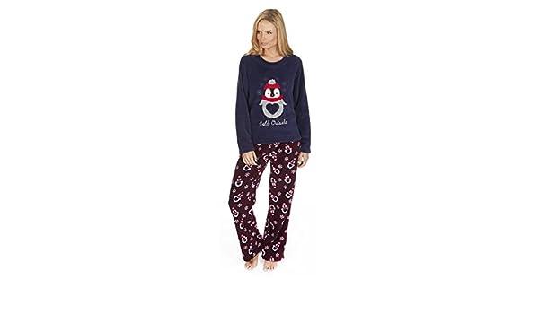 Forever Dreaming Pijama de Navidad de forro polar de 2 piezas azul Blue Penguin L : Amazon.es: Ropa y accesorios