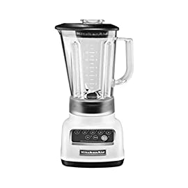 KitchenAid KSB1570 5-Speed Blender with 56-Ounce BPA-Free Pitcher 24 Stainless Steel Blade Intelli-Speed Motor Control Soft Start Feature; Jar Style : Round