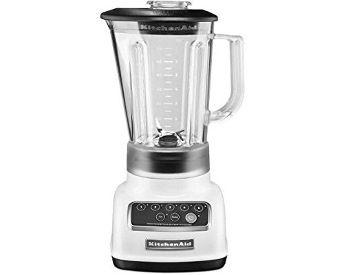 KitchenAid KSB1570 5-Speed Blender with 56-Ounce BPA-Free Pitcher 1 Stainless Steel Blade Intelli-Speed Motor Control Soft Start Feature; Jar Style : Round