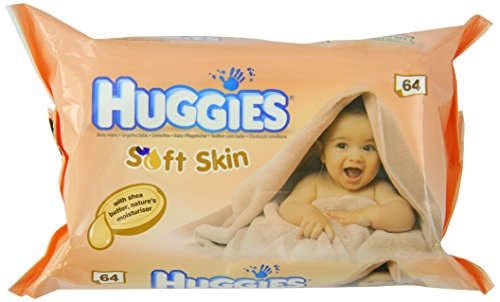 Huggies Soft Skin Baby Wipes with Shea Butter 64 Count Case of 6