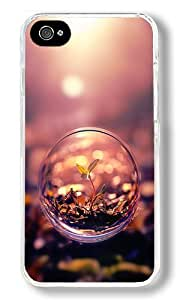Beautiful Macro Photography Plant Water Bubble Custom iPhone 5s Case Back Cover, Snap-on Shell Case Polycarbonate PC Plastic Hard Case Transparent