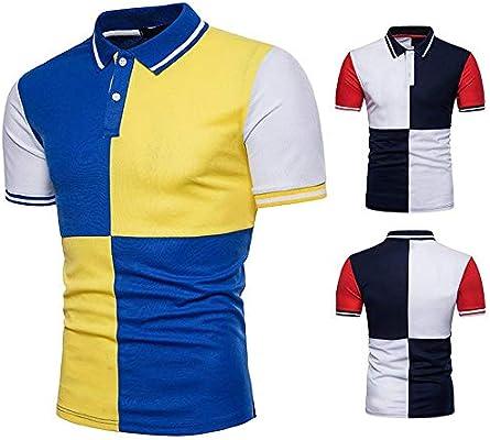 Camiseta de manga corta de los hombres For hombre verano Golf ...