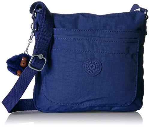 (Kipling Women's Sebastian Bag, Adjustable Crossbody Strap, Top Zip Closure, Cobalt Dream Tonal)