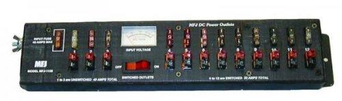MFJ-1128 Power strip, 40A, 12 pole, w/meter