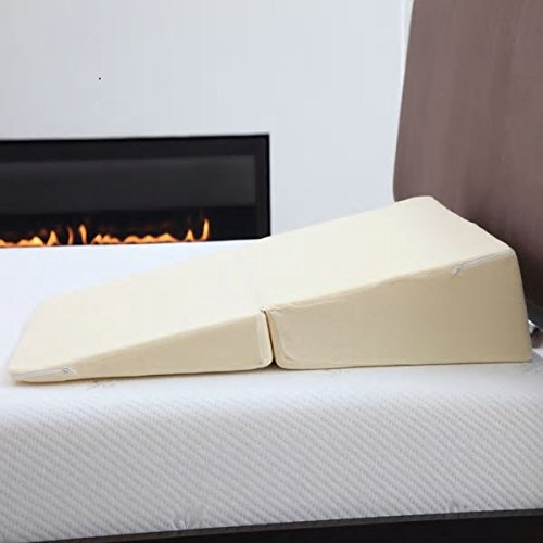 No More Snore Personal Memory Foam Folding Wedge Pillow Specialty Mattress Bed Topper Soft Cushion High Density Slant Comfortable Elevator Good Construction Sleeping Aid Incline Support Design Bedroom by PH