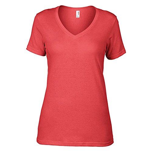 Anvil - Camiseta - para mujer Coral