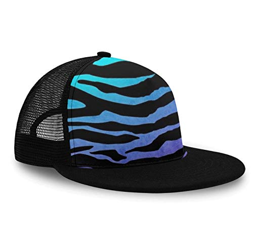 Purple Blue Green Camouflage Zebra Stripes Baseball Cap Slouch Hat for Men Women Unisex, Fitted Snapback Hat Tennis Cap Runner Cap, Foldable Sun Protection Hip Pop Dad Cap Trucker Cap
