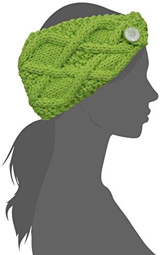 FU-R Headwear Women's Feel My Flow Lightweight Hand Knit Headband, Lime, One Size