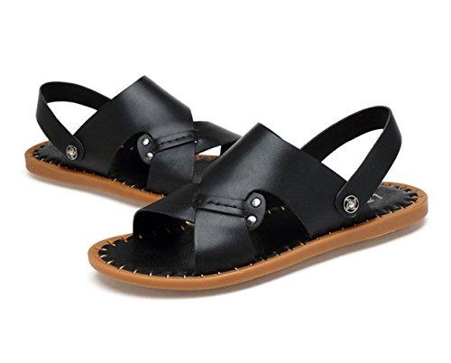 Mano Casual Scarpe Uomo Black LEDLFIE Sandali Scarpe Estate Cucite Spiaggia A XHzBq