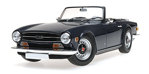1973 Triumph TR6 Left-hand Drive Convertible Dark Blue Limited Edition to 350 pieces Worldwide 1/18 Diecast Model Car by Minichamps 155132032 -
