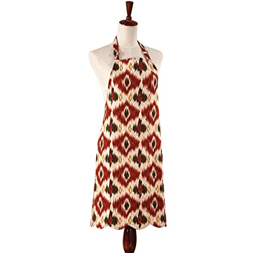 C&F Home 29X31 ADULT Quilted Reversible Apron, IKAT