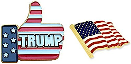 Trump pin  made from cast metal Made in the USA!
